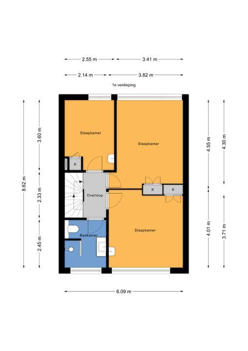 Kwikstaartlaan 2, Leidschendam floorplan-1