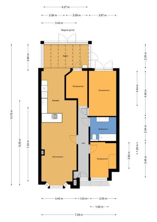 van Gaesbekestraat 13, Voorburg floorplan-0