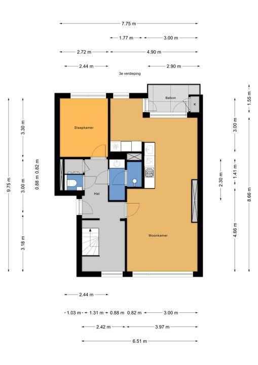 Dr N. Adrianistraat 9, Rijswijk floorplan-0