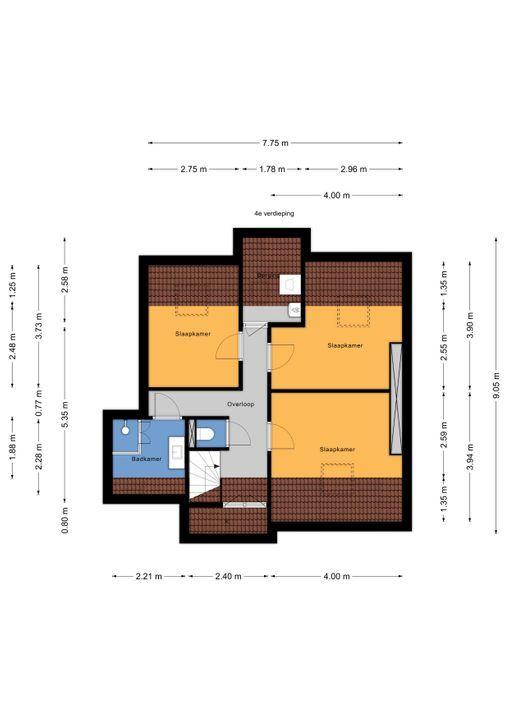 Dr N. Adrianistraat 9, Rijswijk floorplan-1