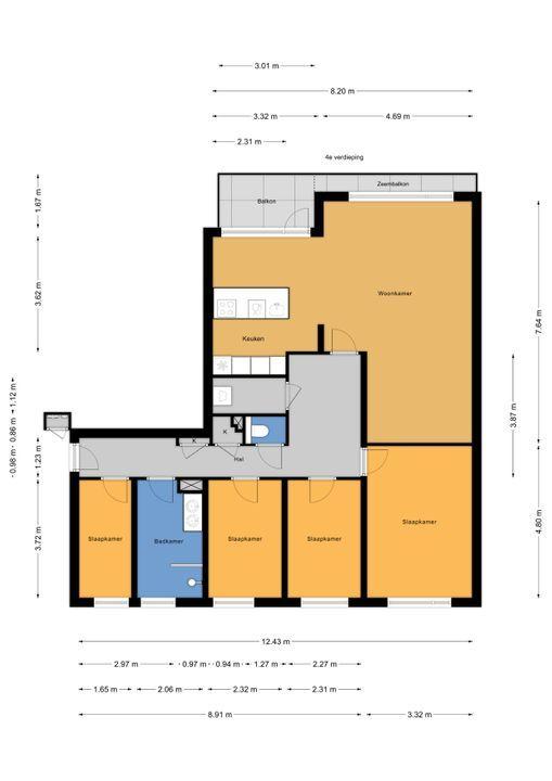 Monseigneur van Steelaan 327, Voorburg floorplan-0
