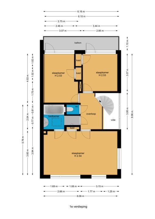 Prinses Margrietlaan 18, Voorburg floorplan-1
