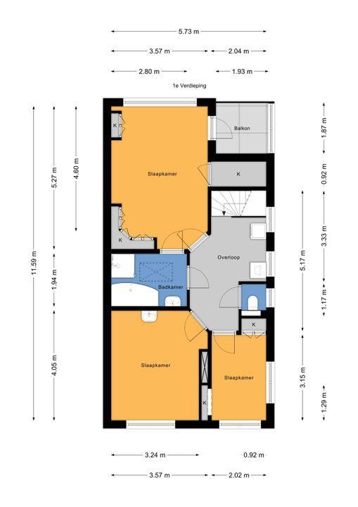 Marialaan 23, Voorburg floorplan-1
