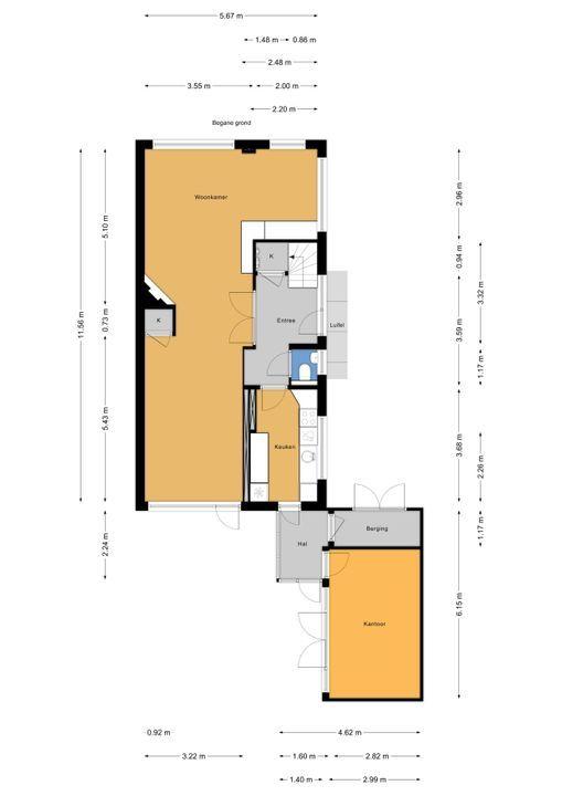 Marialaan 23, Voorburg floorplan-0