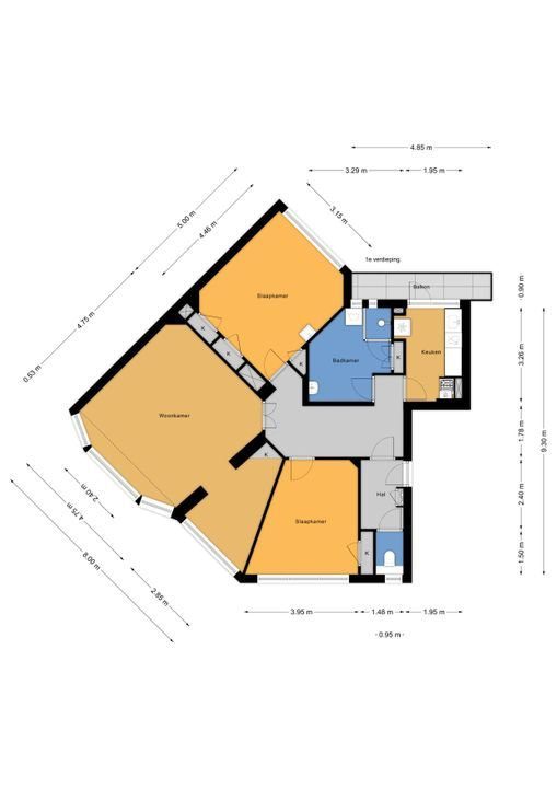 Rembrandtlaan 73, Voorburg floorplan-0