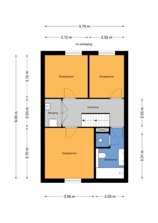 Jacobsmantelstraat 14, Den Haag floorplan-1