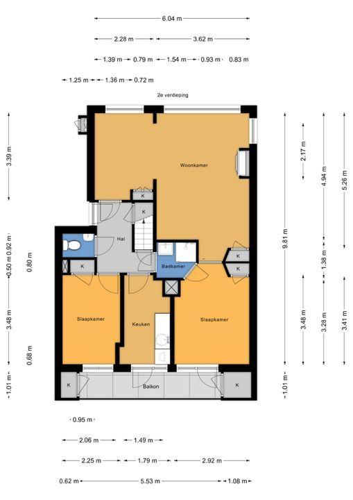 Carel Vosmaerstraat 58, Voorburg floorplan-0