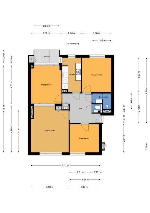 Koningin Julianalaan 151, Voorburg floorplan-0