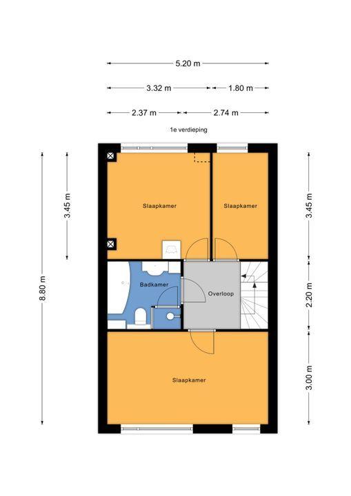 Rodelaan 63, Voorburg floorplan-1