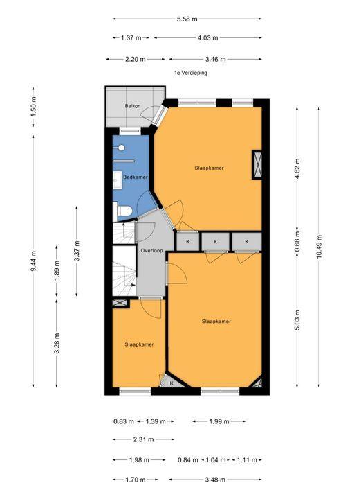 Prinses Mariannelaan 33, Voorburg floorplan-1