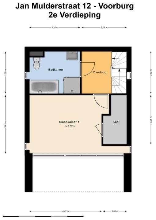 Jan Mulderstraat 12, Voorburg floorplan-2