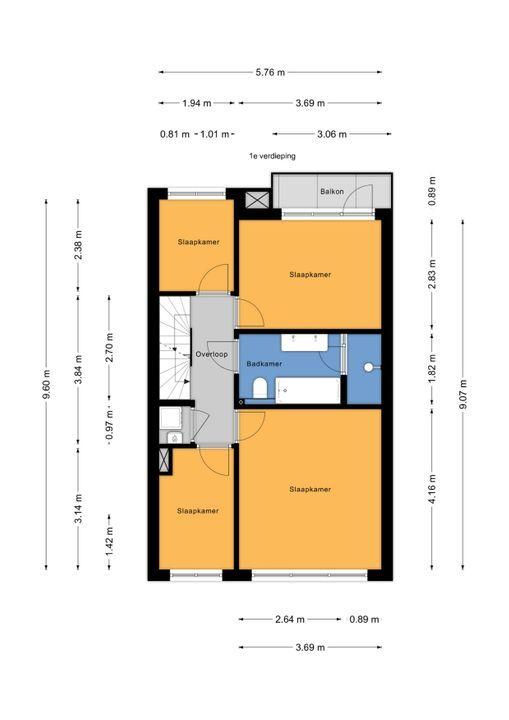 Eemwijkstraat 37, Voorburg floorplan-1