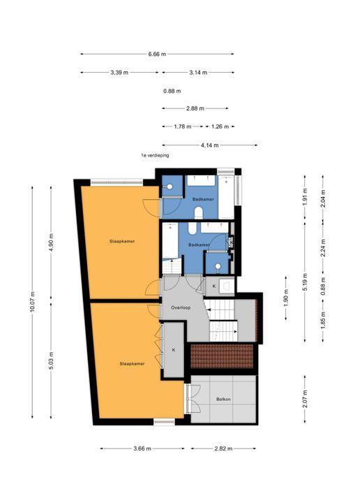 Voorburgseweg 4, Leidschendam floorplan-1