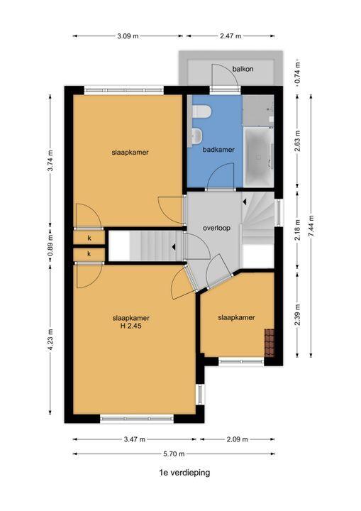 Agrippinastraat 59, Voorburg floorplan-1
