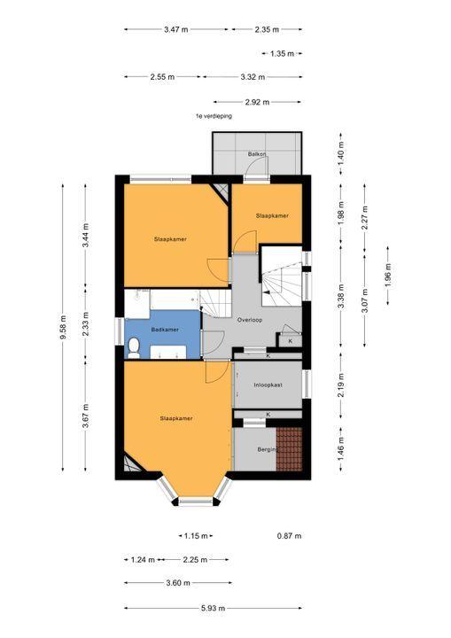 Prinses Mariannelaan 13, Voorburg floorplan-1