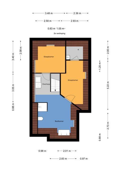 Prinses Mariannelaan 13, Voorburg floorplan-2