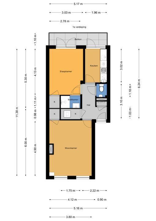 Rijklof van Goensstraat 70, Den Haag floorplan-0