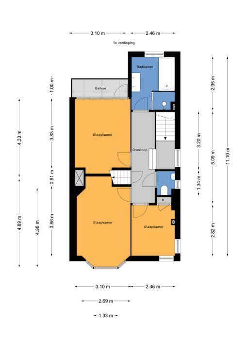 Den Burghstraat 4, Voorburg floorplan-1