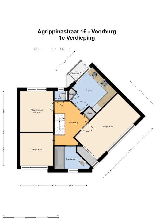 Agrippinastraat 16, Voorburg floorplan-1