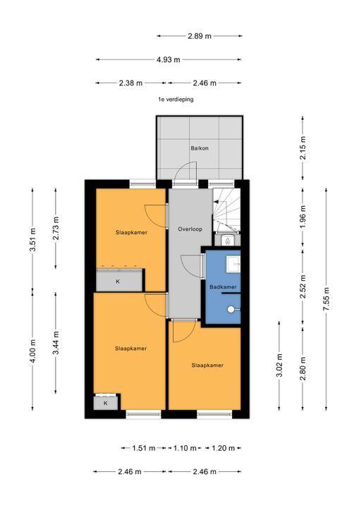 Tedingerstraat 92, Leidschendam floorplan-1