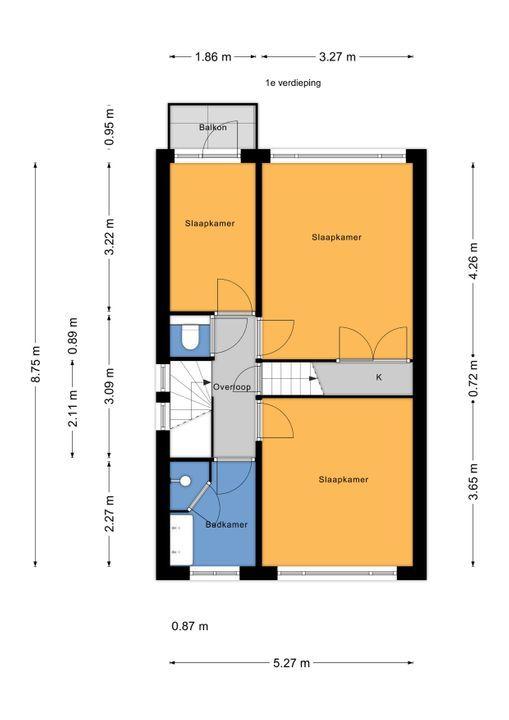 Oostvlietstraat 10, Voorburg floorplan-1