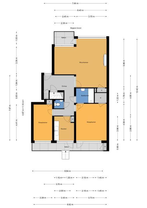 Laan van Nieuw Oosteinde 121 E, Voorburg floorplan-0