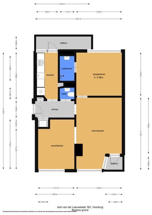 Aart van der Leeuwkade 162, Voorburg floorplan-0