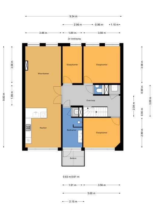 Koningin Wilhelminalaan 124, Voorburg floorplan-1