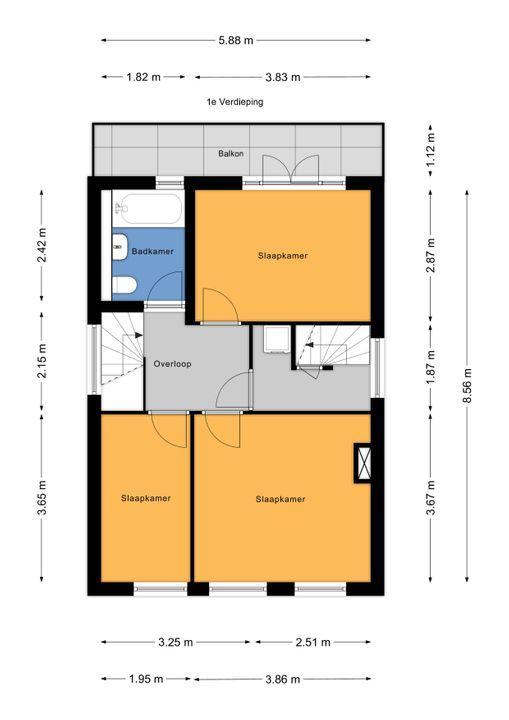 Vondelstraat 3, Voorburg floorplan-1