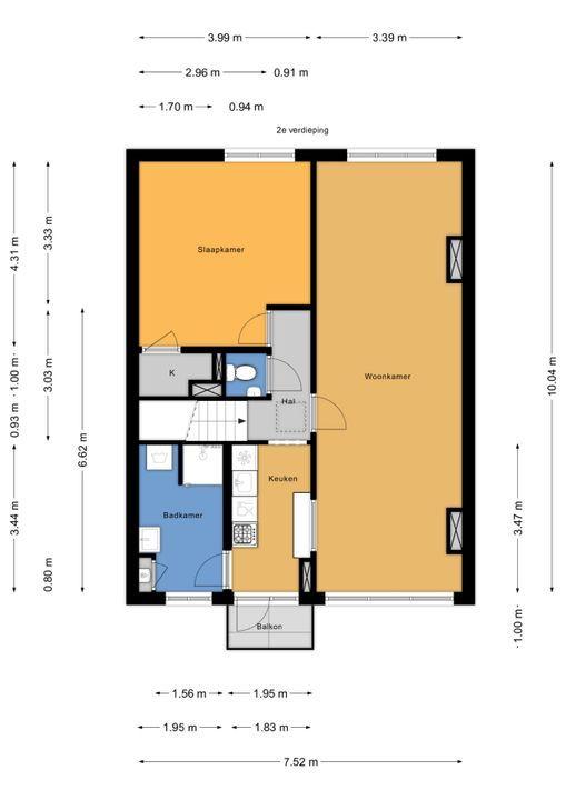 van Wassenaerstraat 48, Voorburg floorplan-1