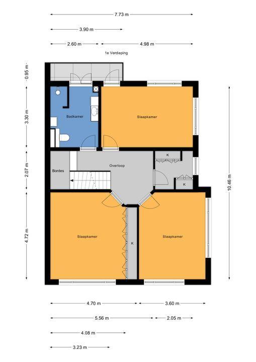 Prinses Mariannelaan 161, Voorburg floorplan-1