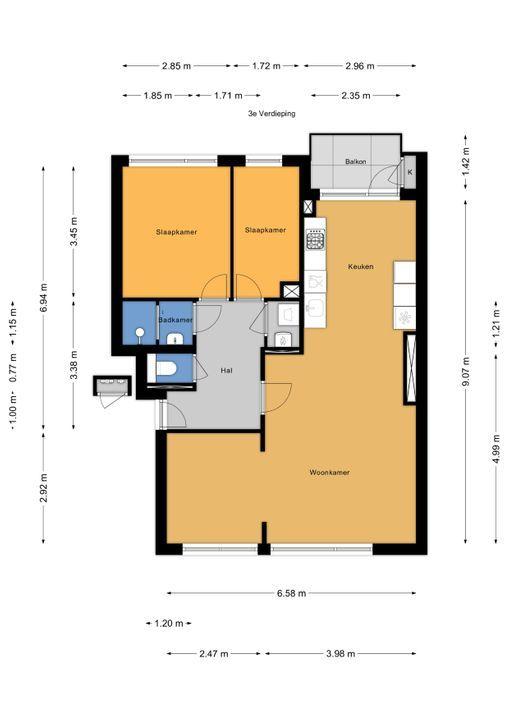Aart van der Leeuwkade 97, Voorburg floorplan-0