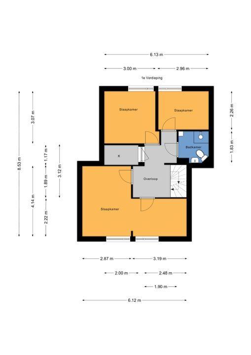 Wilgendreef 63, Voorburg floorplan-1