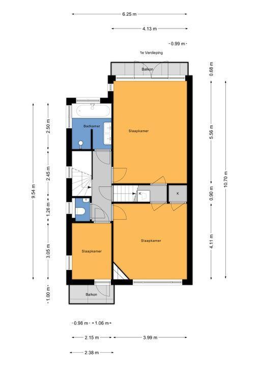 Parkweg 253, Voorburg floorplan-1