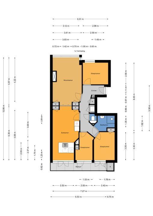 van Halewijnlaan 437, Voorburg floorplan-0
