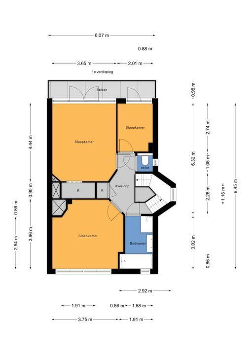 Veldzichtkade 1, Voorburg floorplan-1