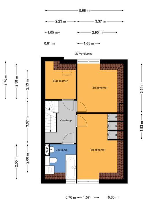 Rembrandtlaan 32, Voorburg floorplan-2