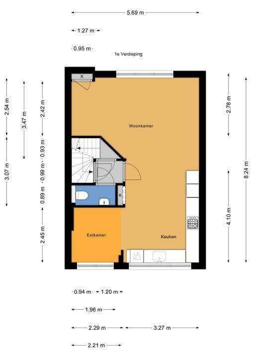Rembrandtlaan 32, Voorburg floorplan-1