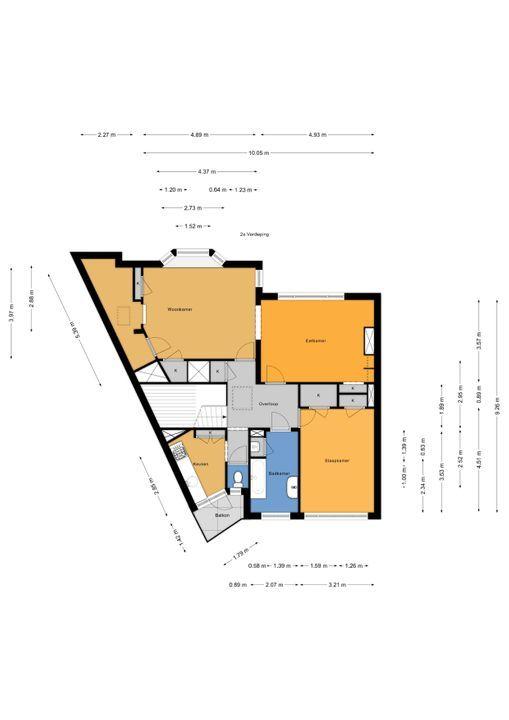 Rembrandtlaan 65, Voorburg floorplan-1
