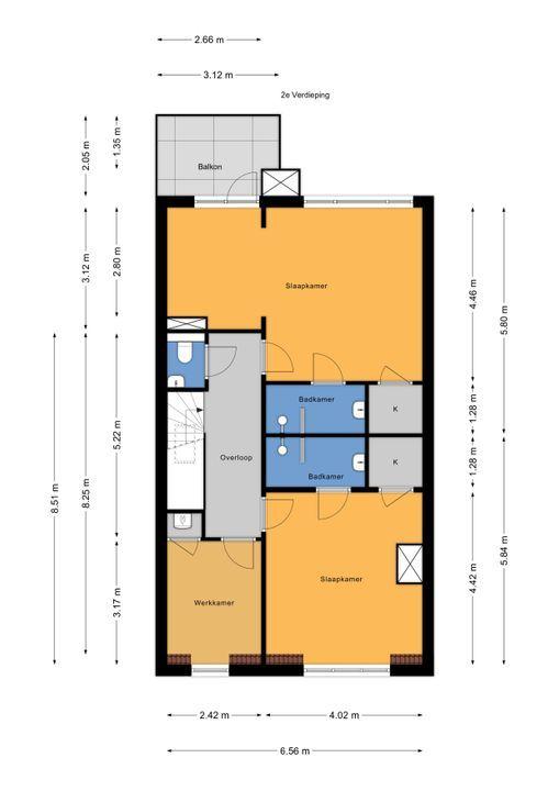 Koningin Wilhelminalaan 524, Voorburg floorplan-2