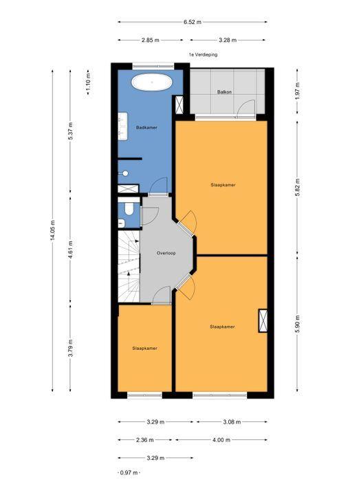 Koningin Wilhelminalaan 524, Voorburg floorplan-1