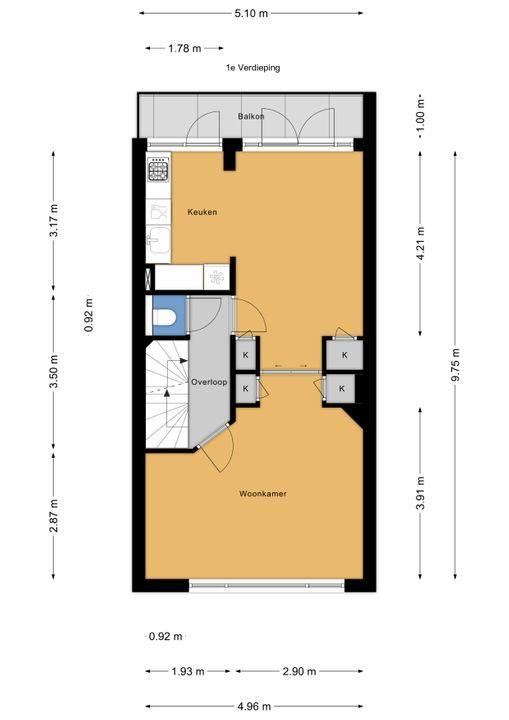 Jacob Catsstraat 76, Voorburg floorplan-1