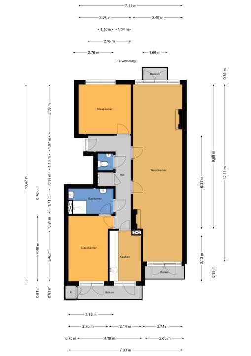 Van Heutszstraat 9 A, Den Haag floorplan-0