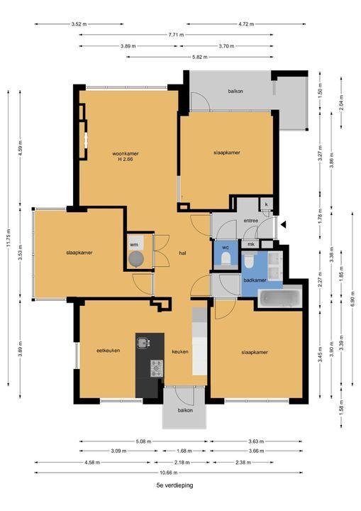 Van Alkemadelaan 892, Den Haag floorplan-0