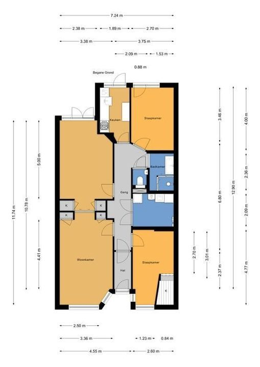 De Moucheronstraat 86, Den Haag floorplan-0