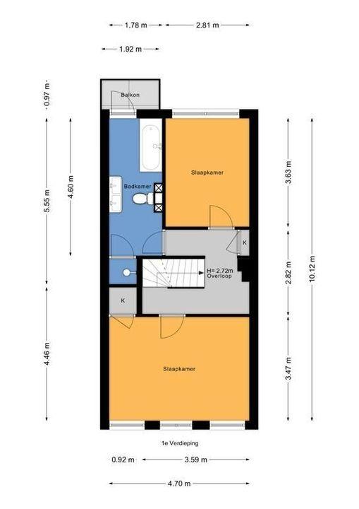 Agrippinastraat 28, Voorburg floorplan-1