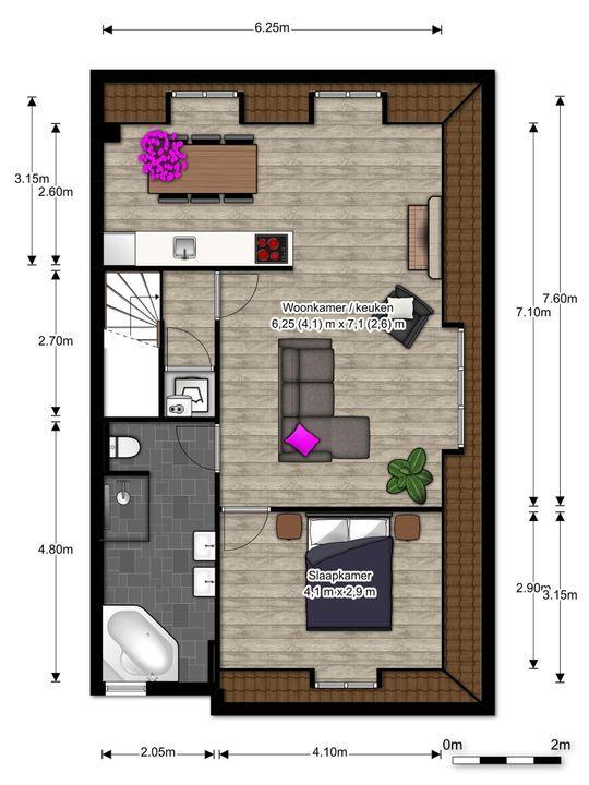 Balistraat 47 A III, Den Haag floorplan-0