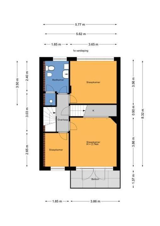 Laan van Sevenstar 18, Voorburg floorplan-1