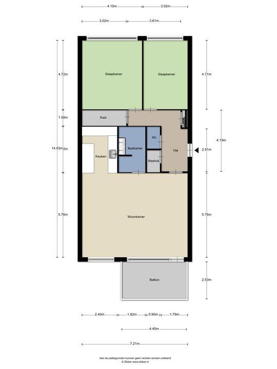 Laan van Wateringse Veld 815, Den Haag floorplan-0