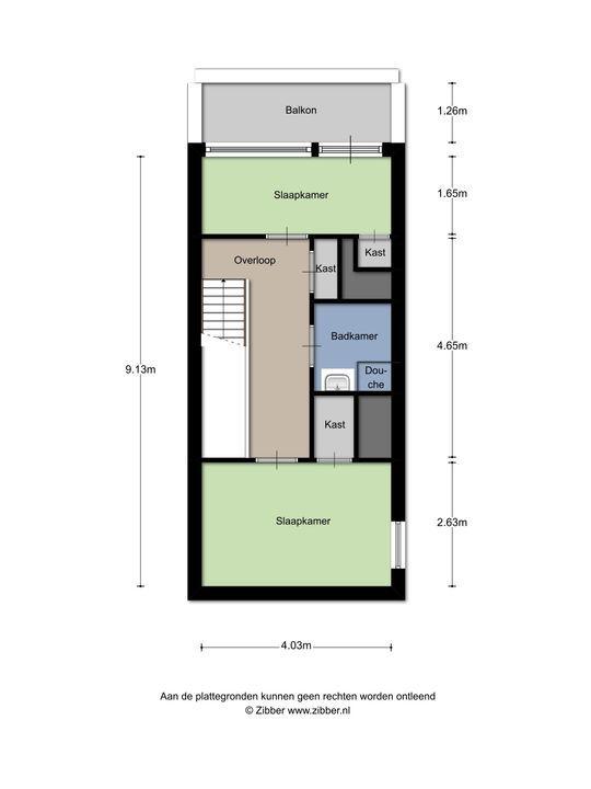 Meppelweg 599, Den Haag floorplan-1